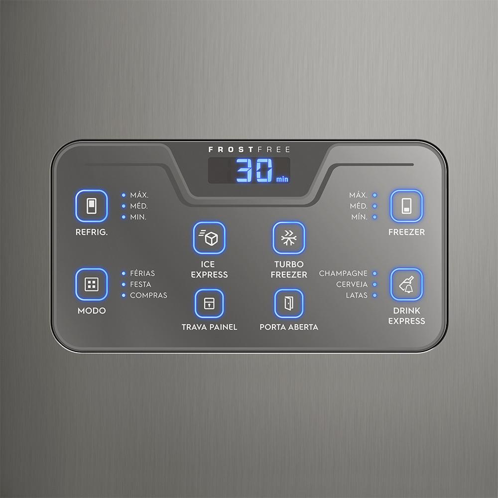 f44675191 O design moderno na cor inox vai deixar a sua cozinha ainda mais  sofisticada